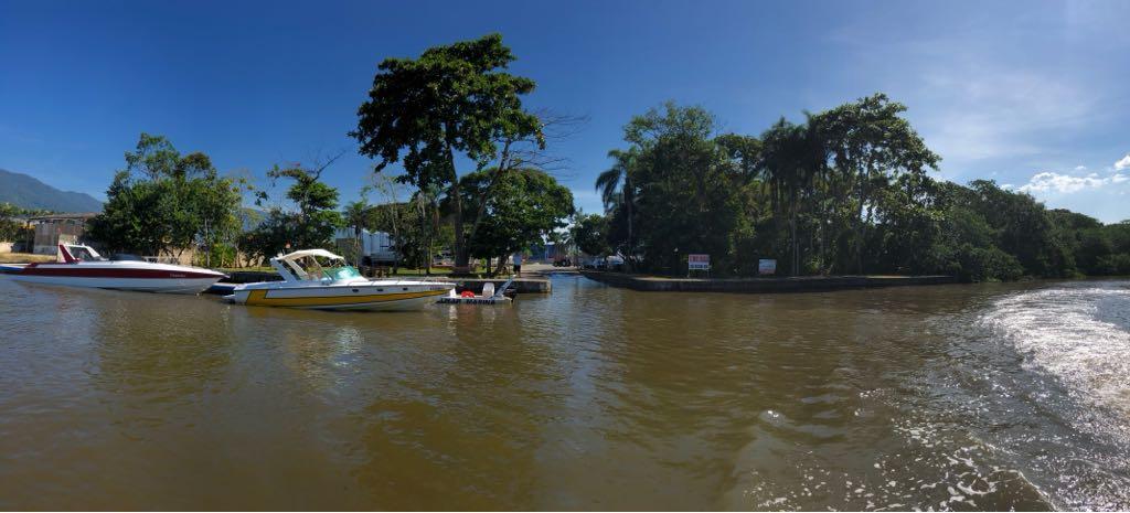 Rio Juqueriquerê - Entrada da barra Celmar Marina
